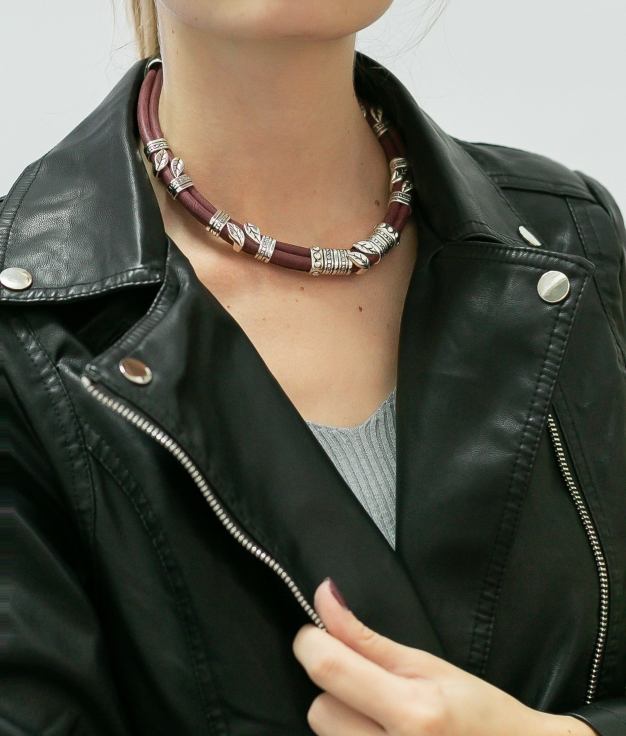 Necklace Tineo - Maroon