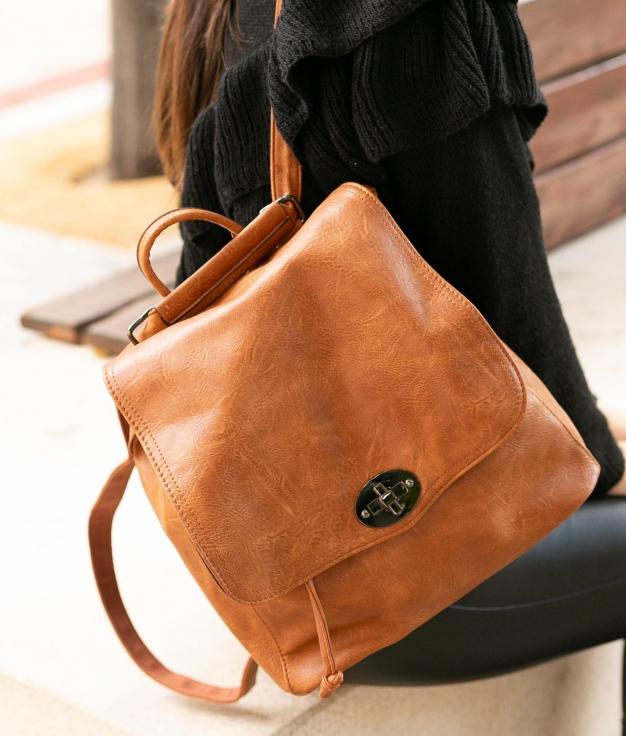Backpack Hueter - Camel