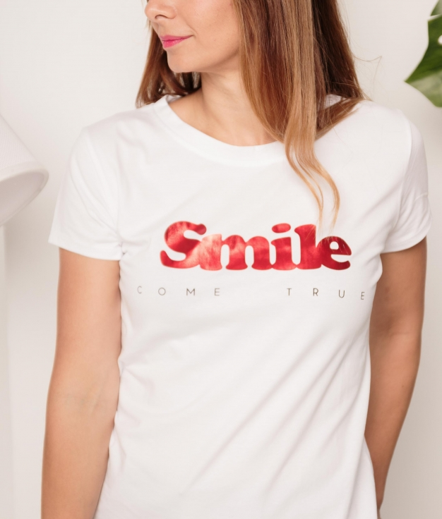 Camiseta Smile - Vermelho