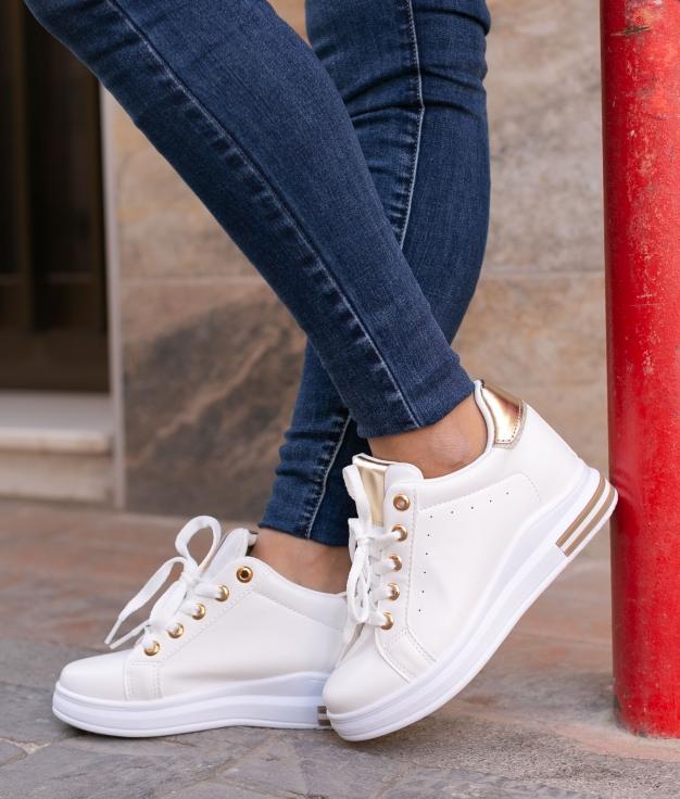 Sneakers Tilmur - Dorado/Blanco