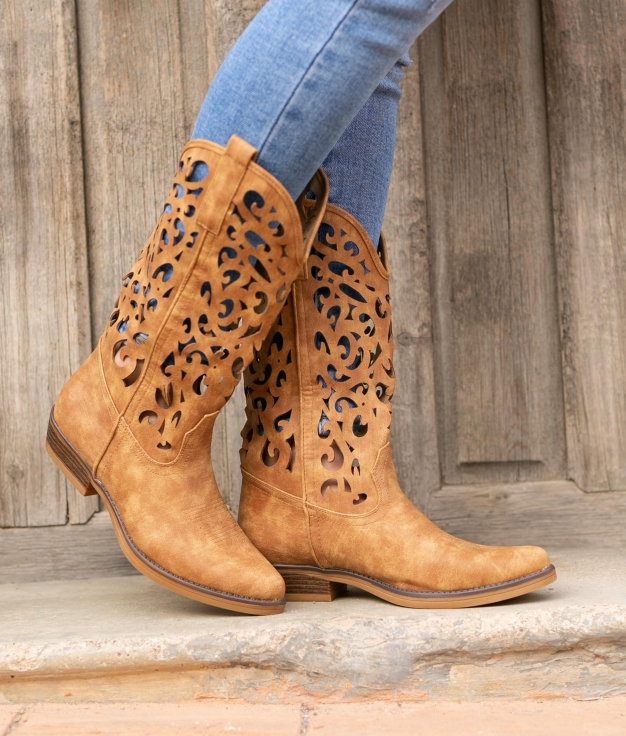 Knee-length Boot Marrie - Camel