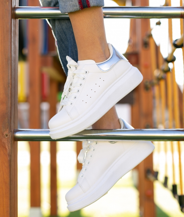 Sneakers Palner - Silver/White