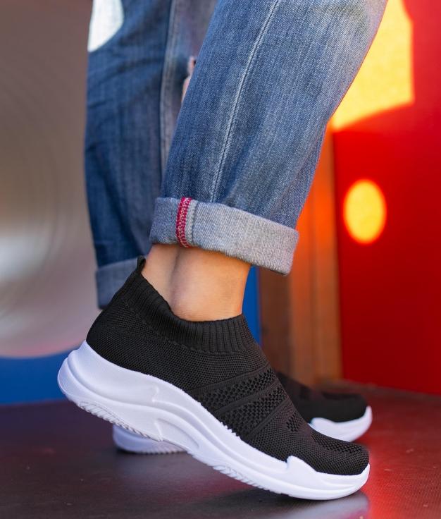 Sneakers Vespra - Noir/Blanc