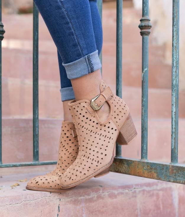 Low Boot Mondale - Camel
