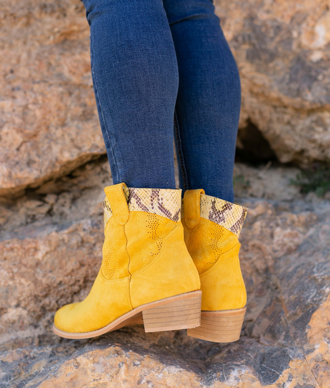 Bota Baja Verico - Amarillo