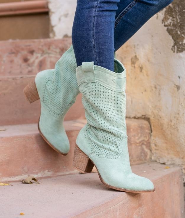 Knee-length Boot Ponet - Green