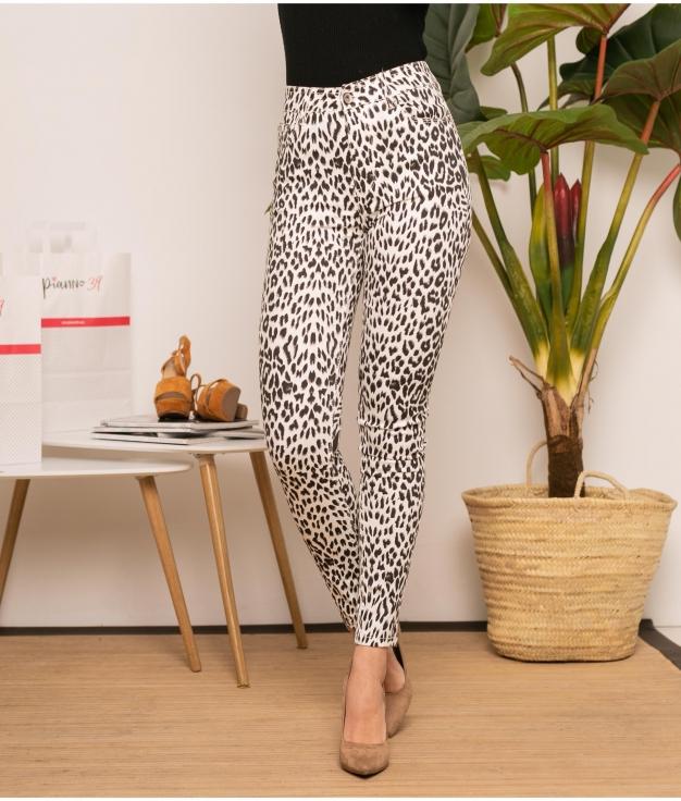 Calça Mardonio - Leopardo/Branco