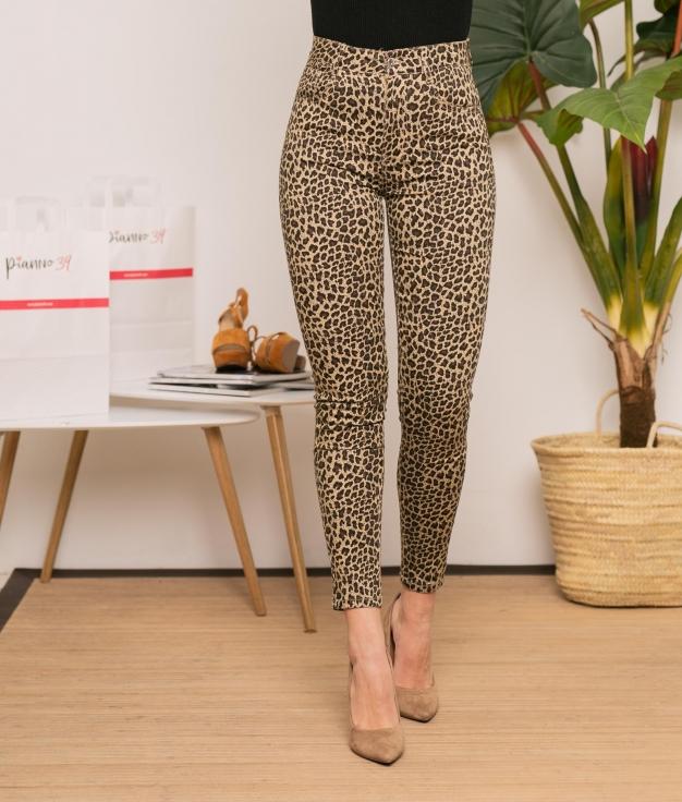 Pantaloni Guacimara - Leopardo/Beige