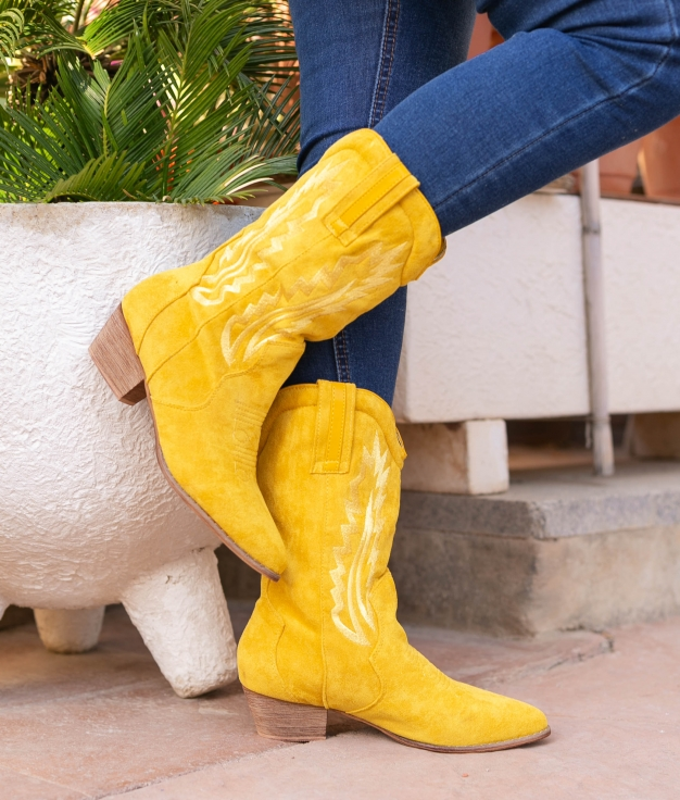 Knee-length Boot Selano - Yellow