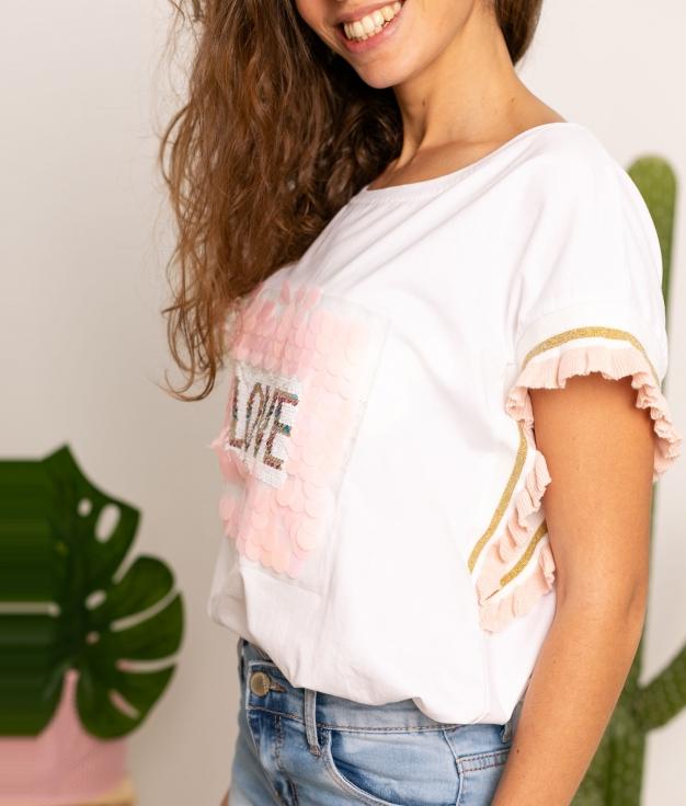 Camiseta Nisten - Rosa