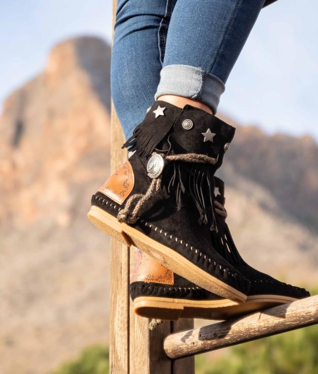 Low Boot Indianini Tresi - Black