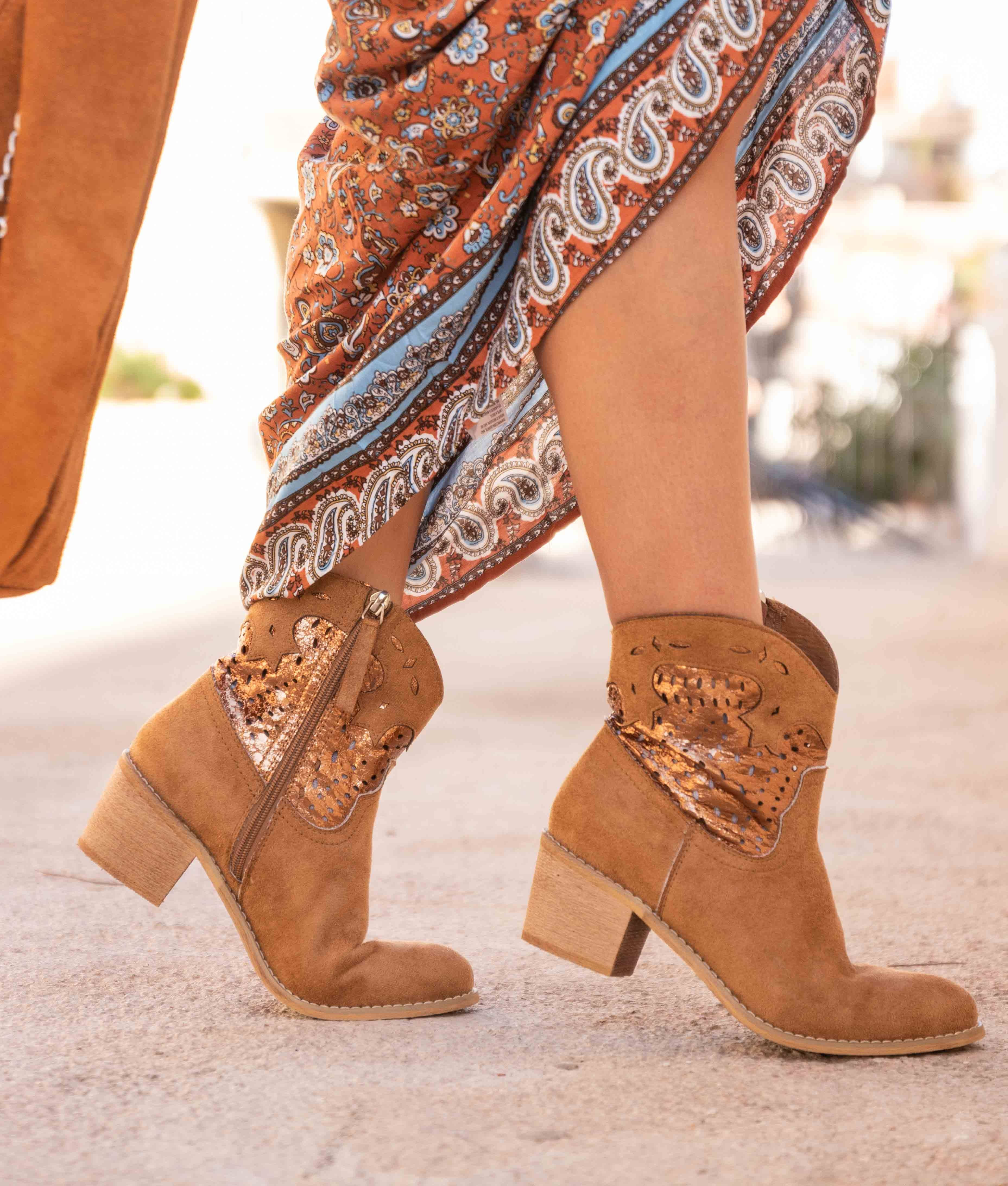 Low Boot Brena - Camel