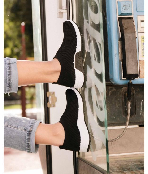 Sneakers Quirol - Noir/Blanc