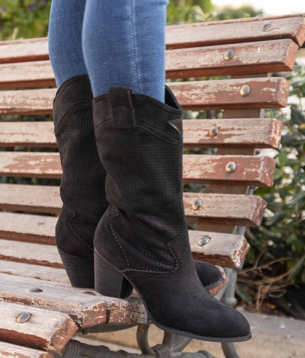 Knee-length Boot Ponet - Black