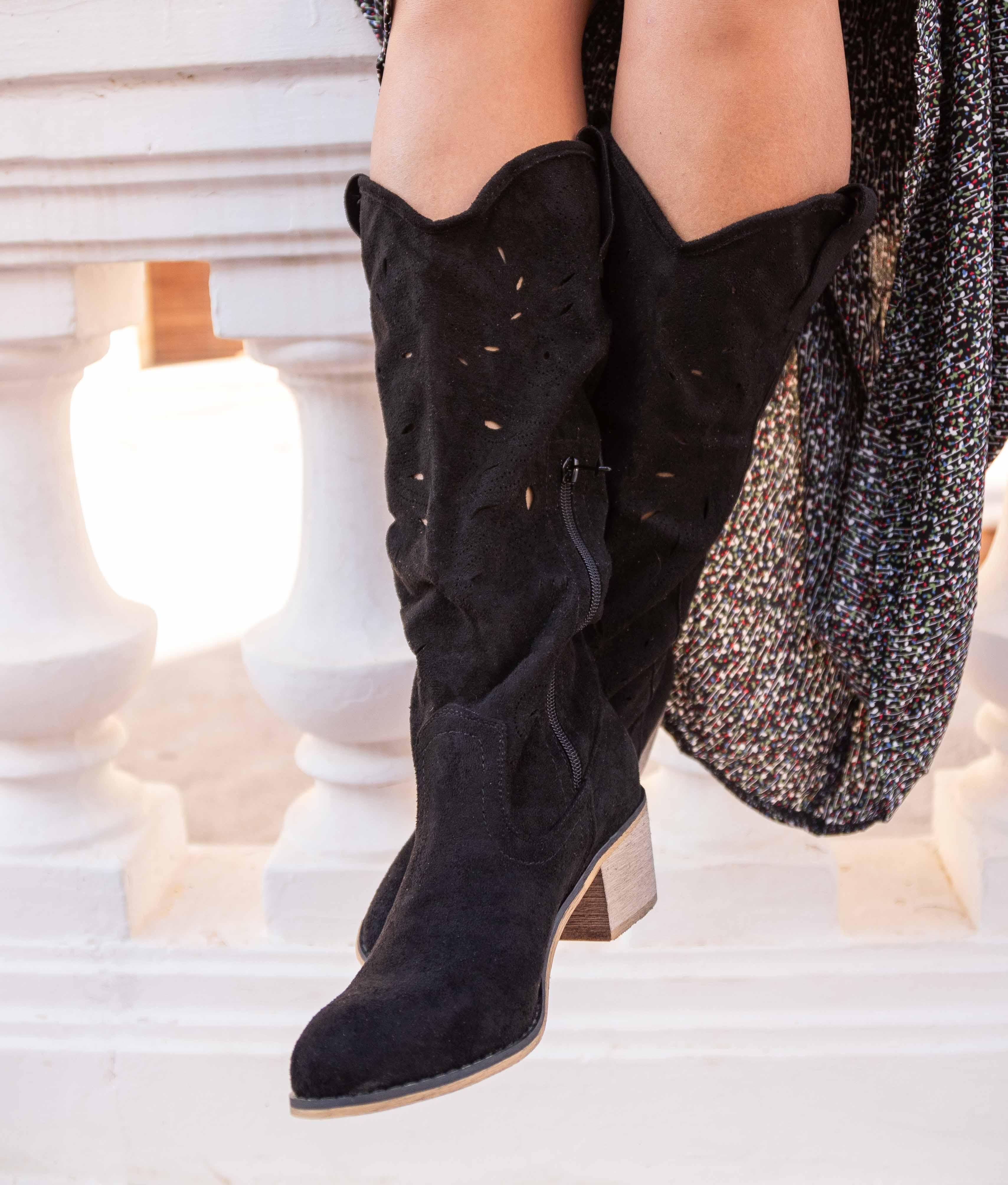 Knee-length Boot Erando - Black