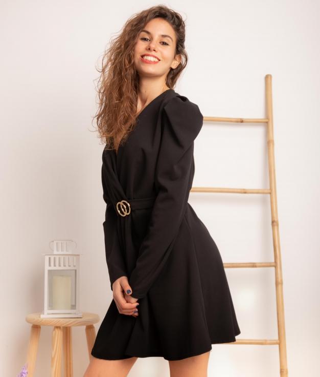 Vestido Georos - Negro