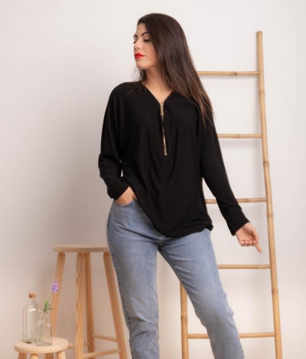 Blusa Gatigue - Negro