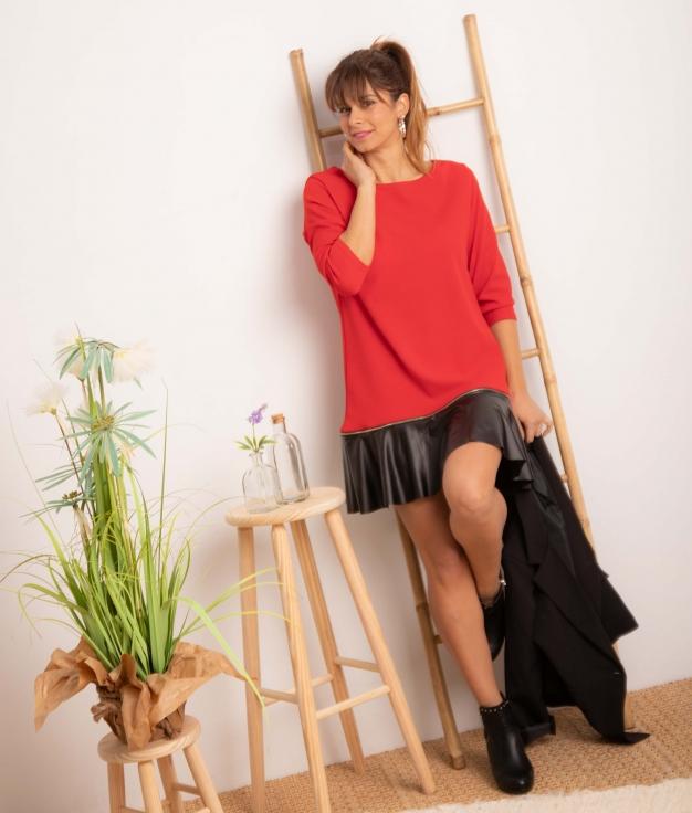 Vestido Benza - Rojo