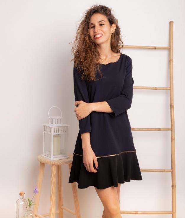 Vestido Benza - Azul Marinho