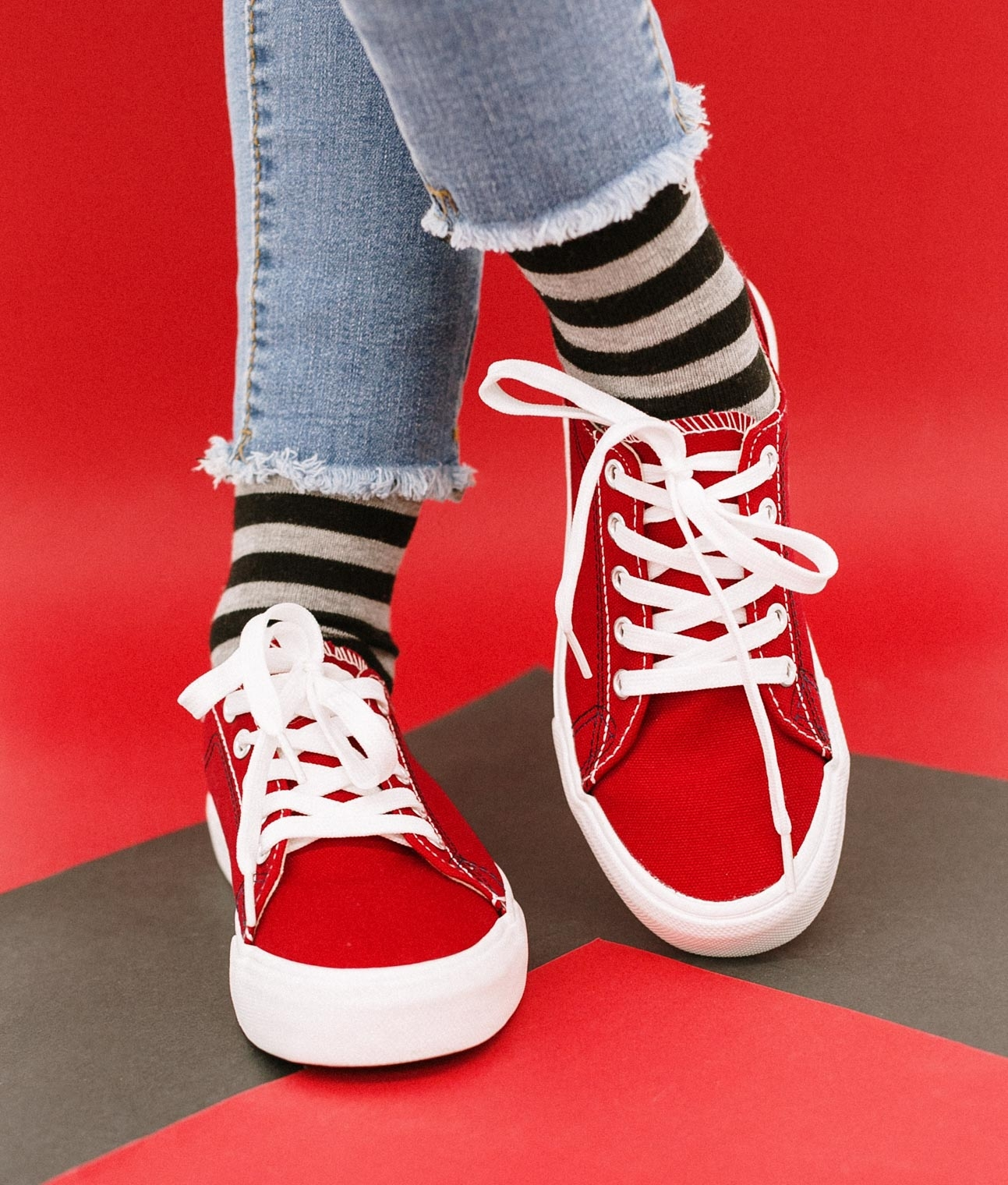 Sneakers Sampel - Rouge