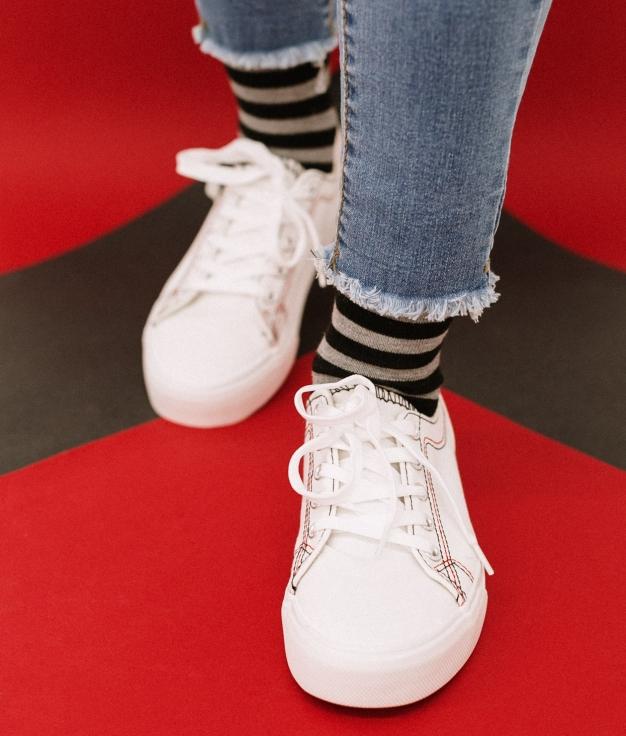 Sneakers Sampel - Bianco