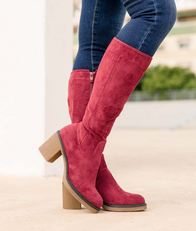 Knee-length Boot Hove - Red