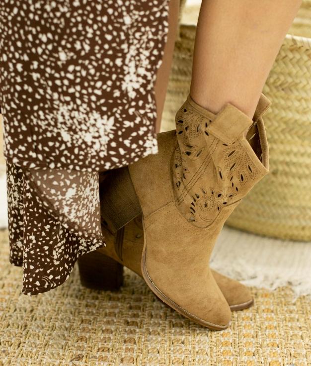 Low Boot Manvar - Camel
