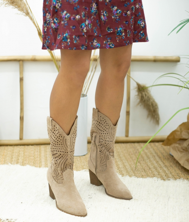 Knee-length Boot Bolane - Beige