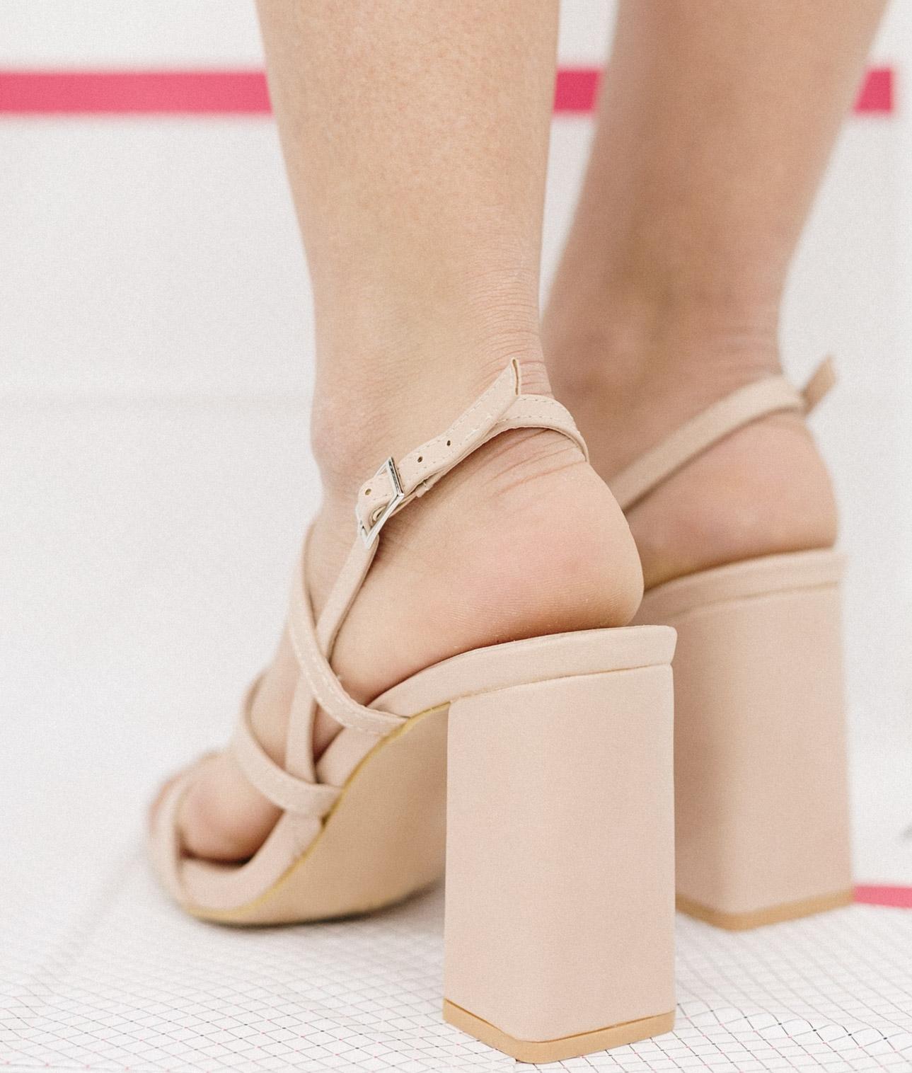 Sandalia de Tacón Goral - Beige