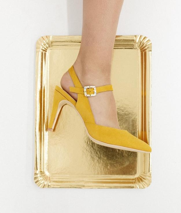 Zapato de Tacón Wana - Amarillo