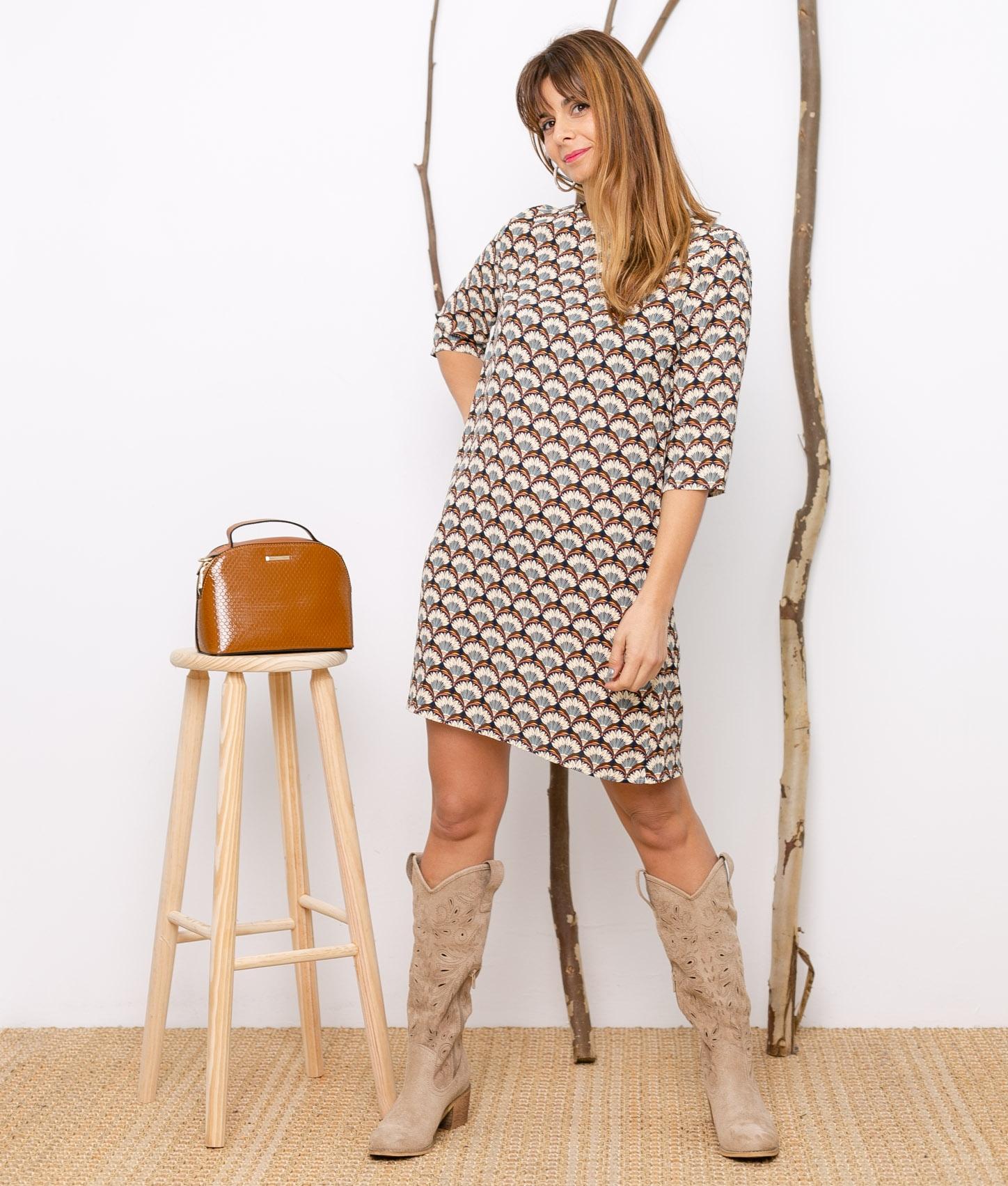 Dress Bezalea - Brown