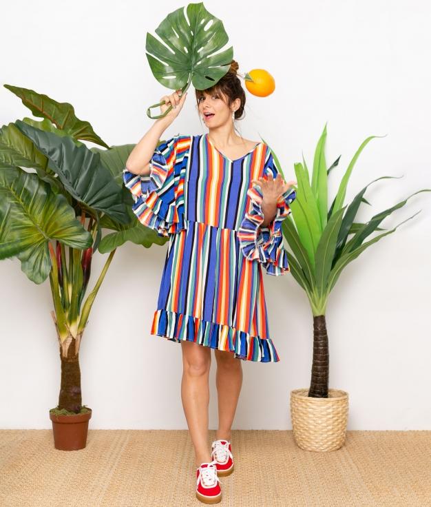 Vestido Clamur - Multicolorido