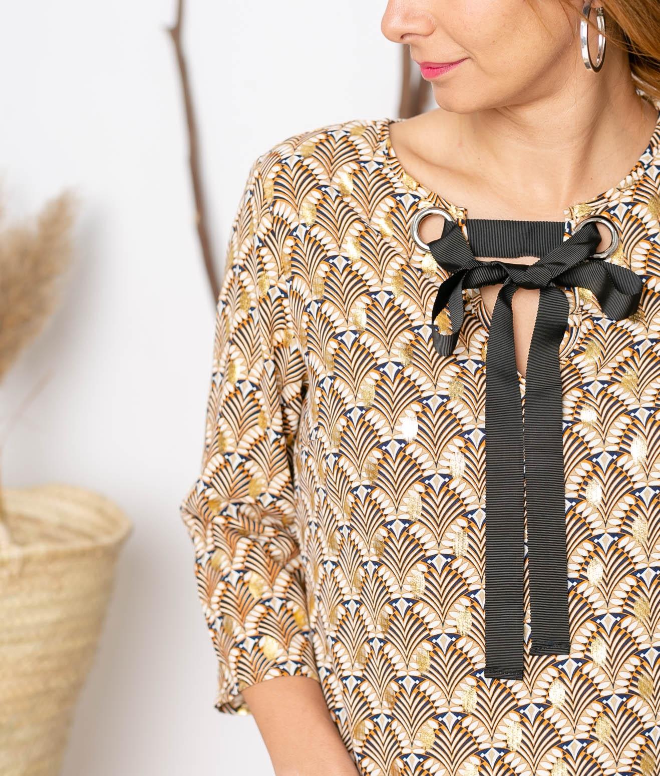 Vestido Azkibar - Oro