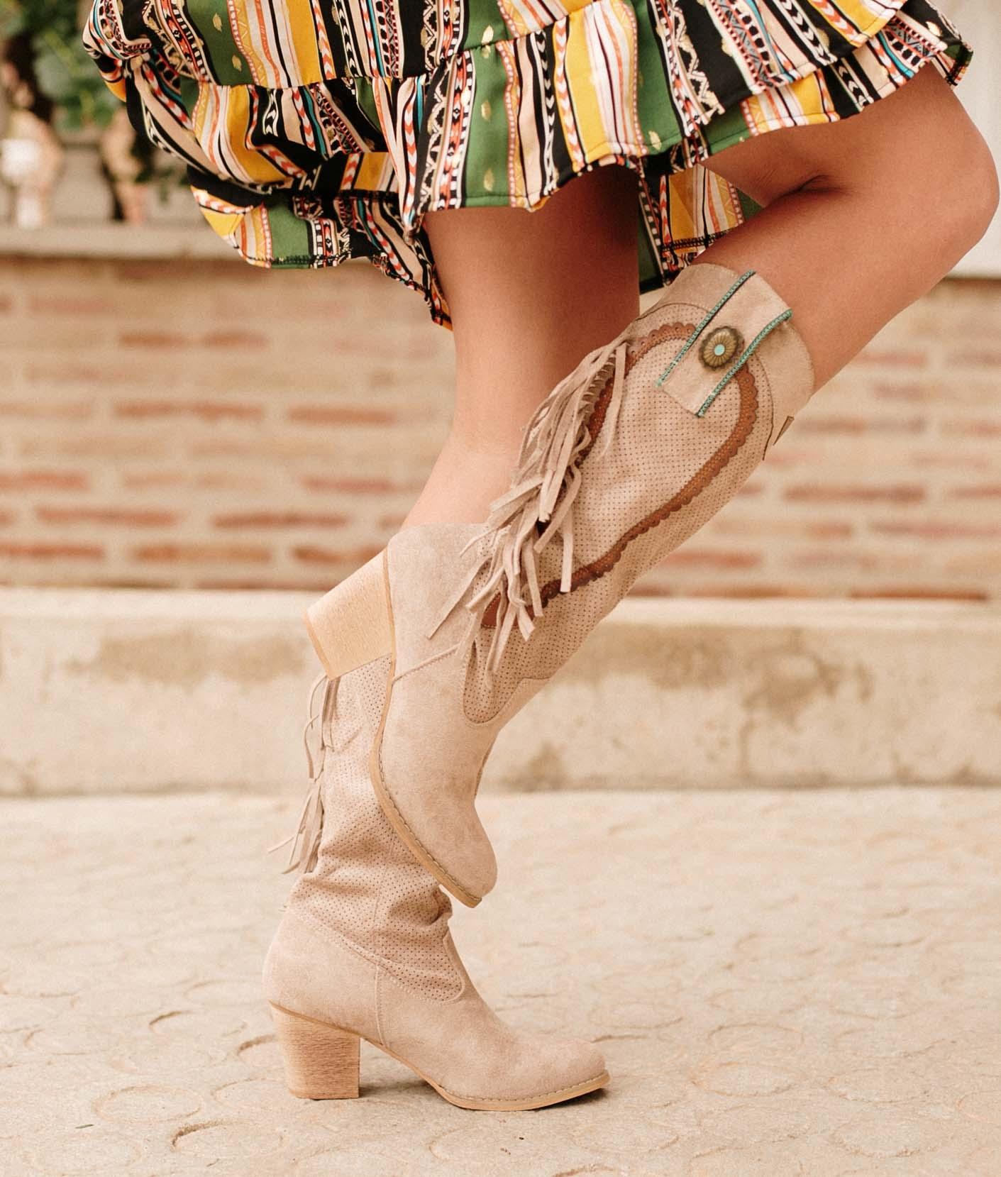 Knee-length Boot Wein - Camel