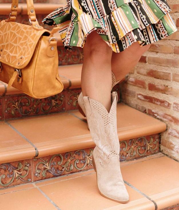 Knee-length Boot Glam West - Beige