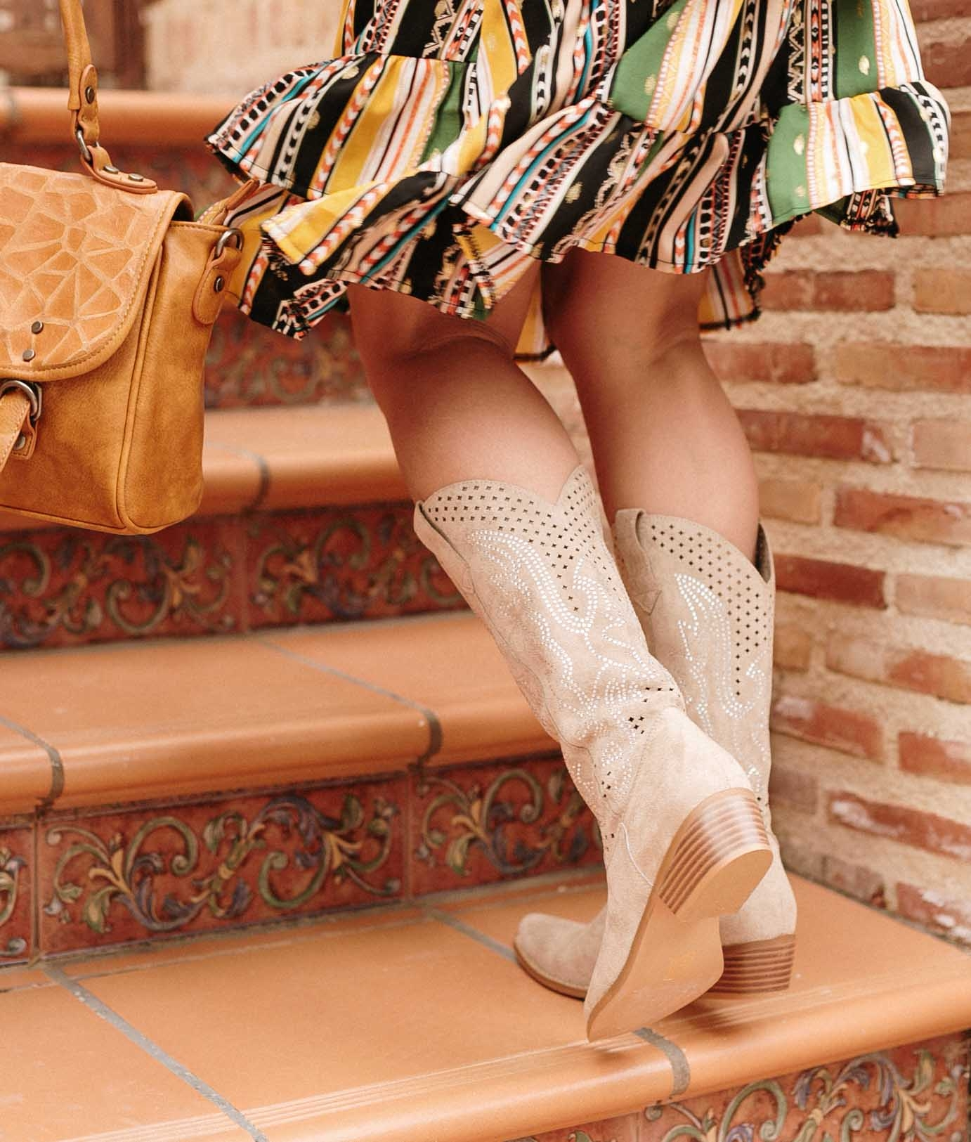 Knee-length Boot Reson - Beige