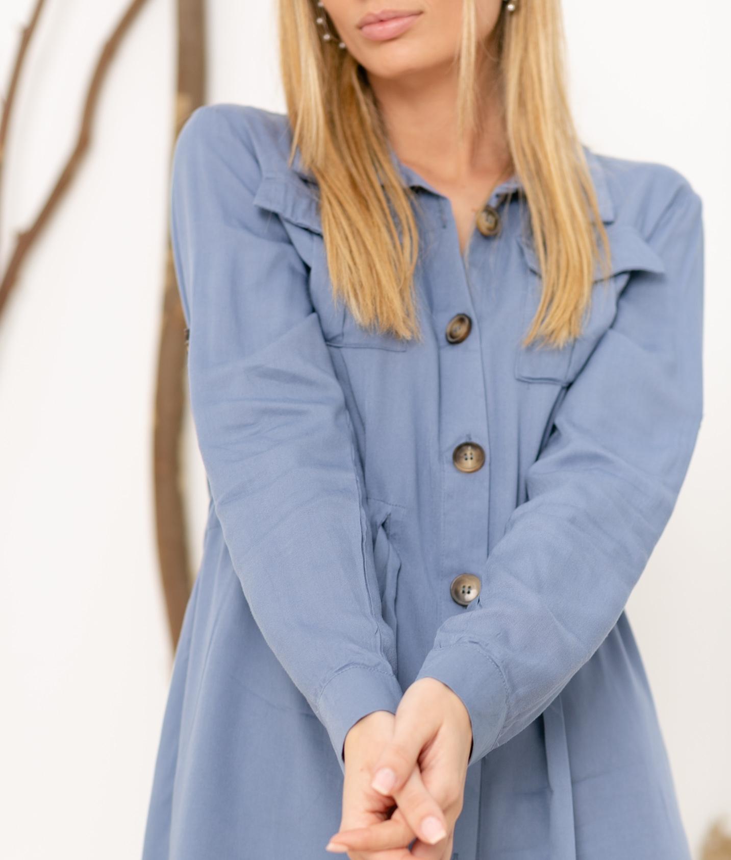 Vestido Kakelu - Azul
