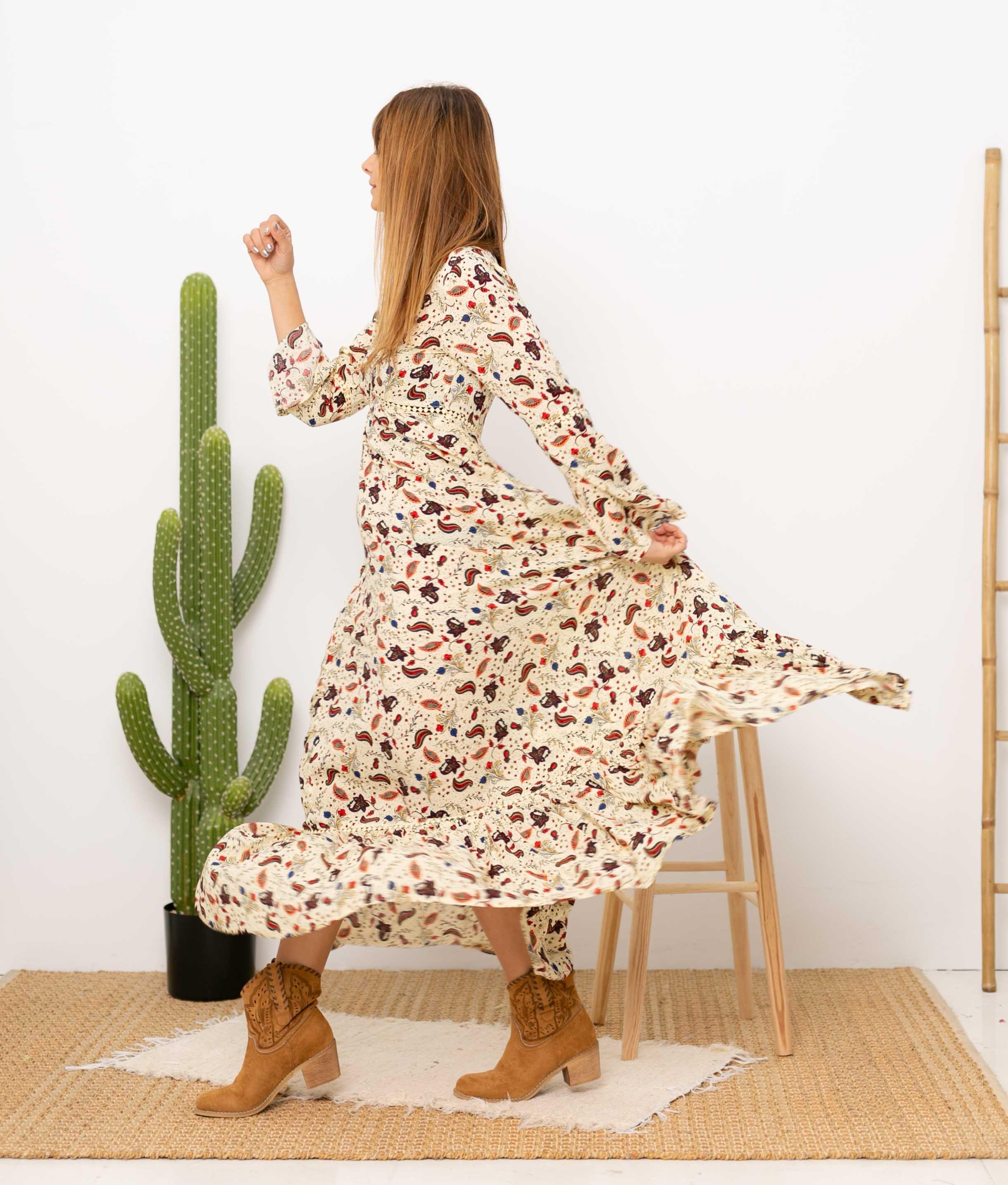 Vestido Ruba - Apricot