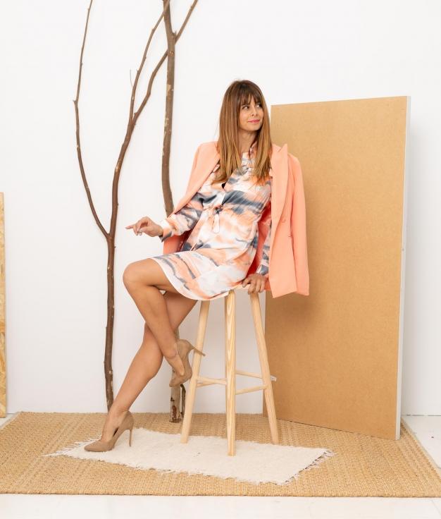Dress Chamba - Coral
