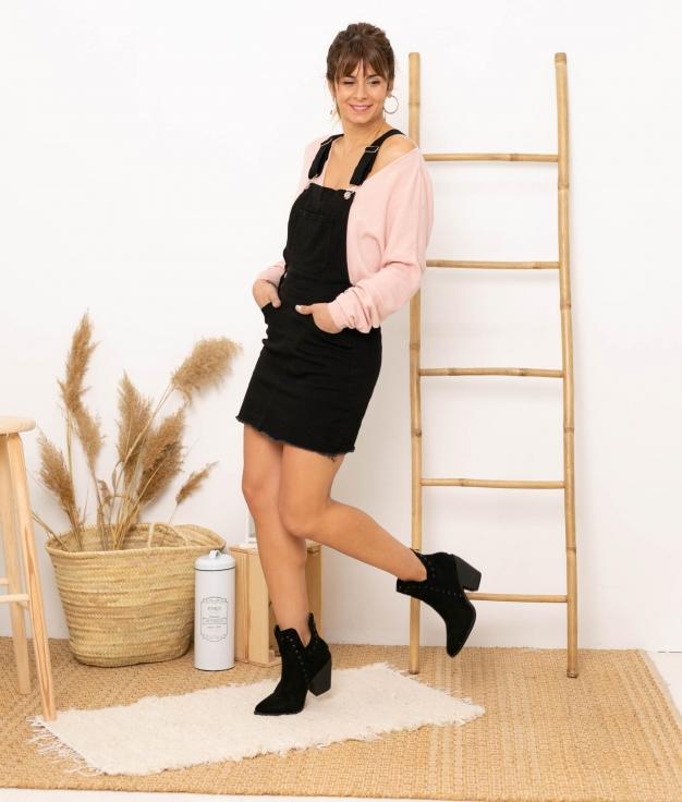 Pinafore dress Fixe - Black