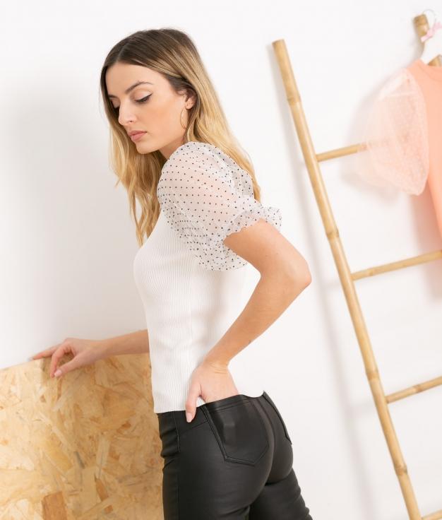 T-shirt Popper - Blanco