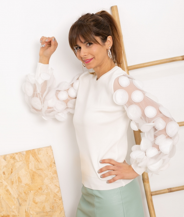 Sweater Platerno - White