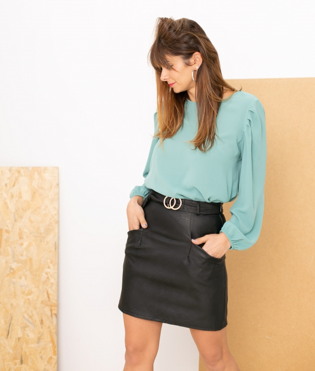 Blouse Gertres - Turquoise