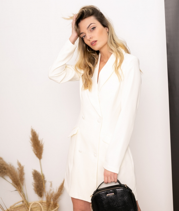 Vestido Xaque - Blanc