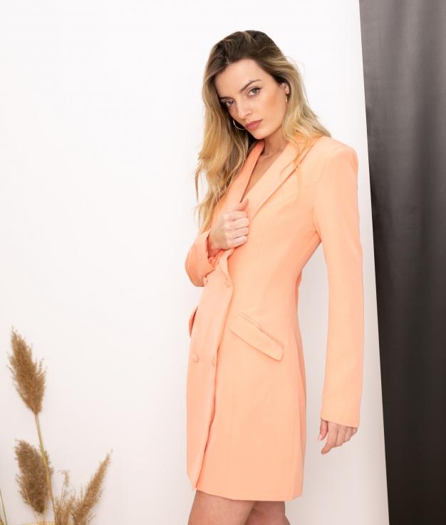 Vestido Xaque - Saumon