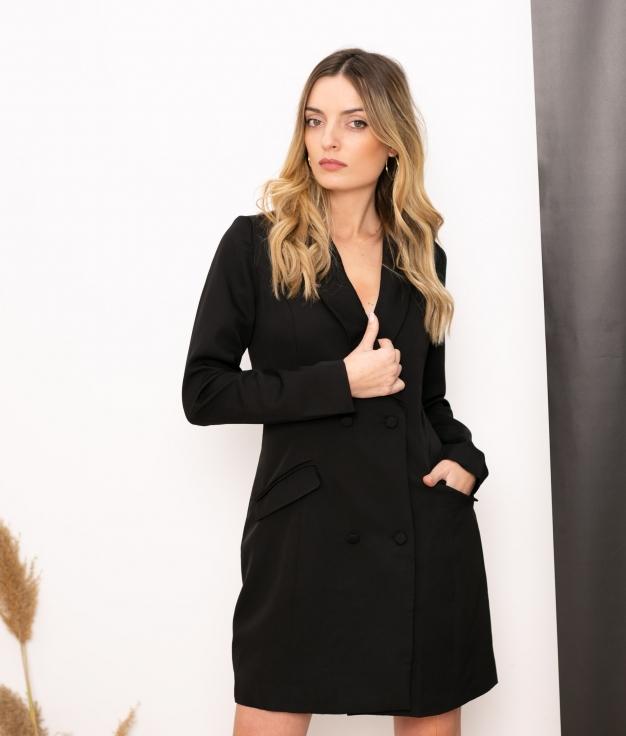 Vestido Xaque - Noir