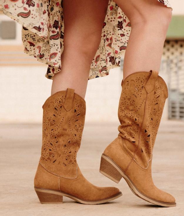 Knee-length Boot Galon - Camel