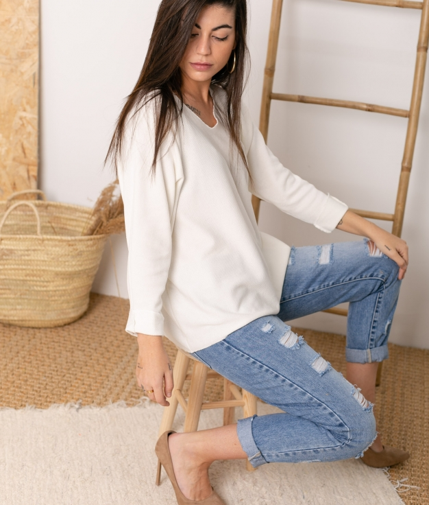 Sweater Mical - White