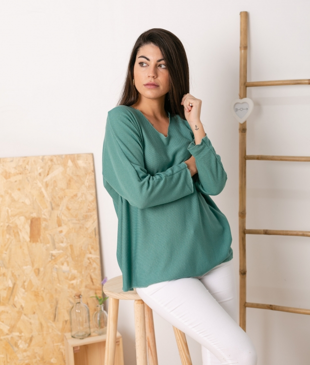 Sweater Mical - Turquoise