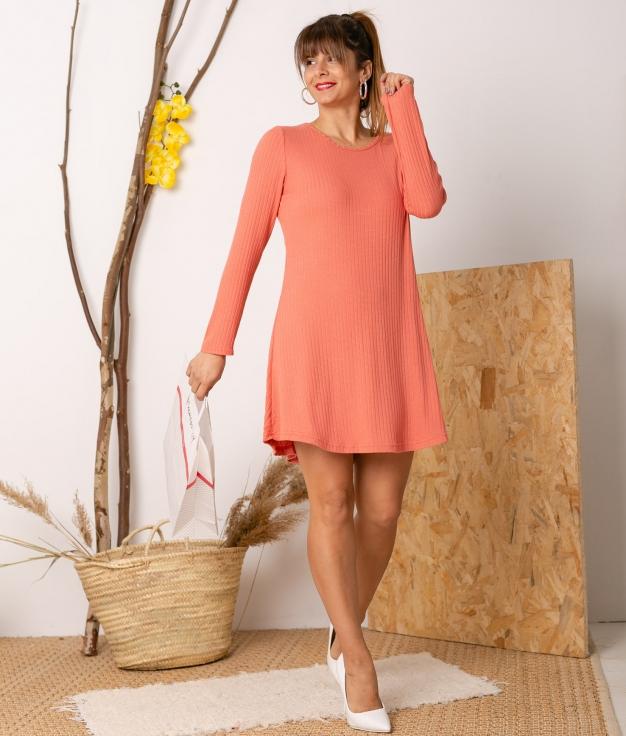 Vestido Malates - Coral